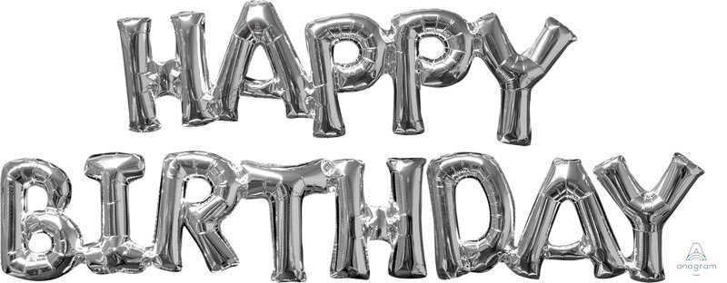CI: Phrases HAPPY BIRTHDAY Silver G50