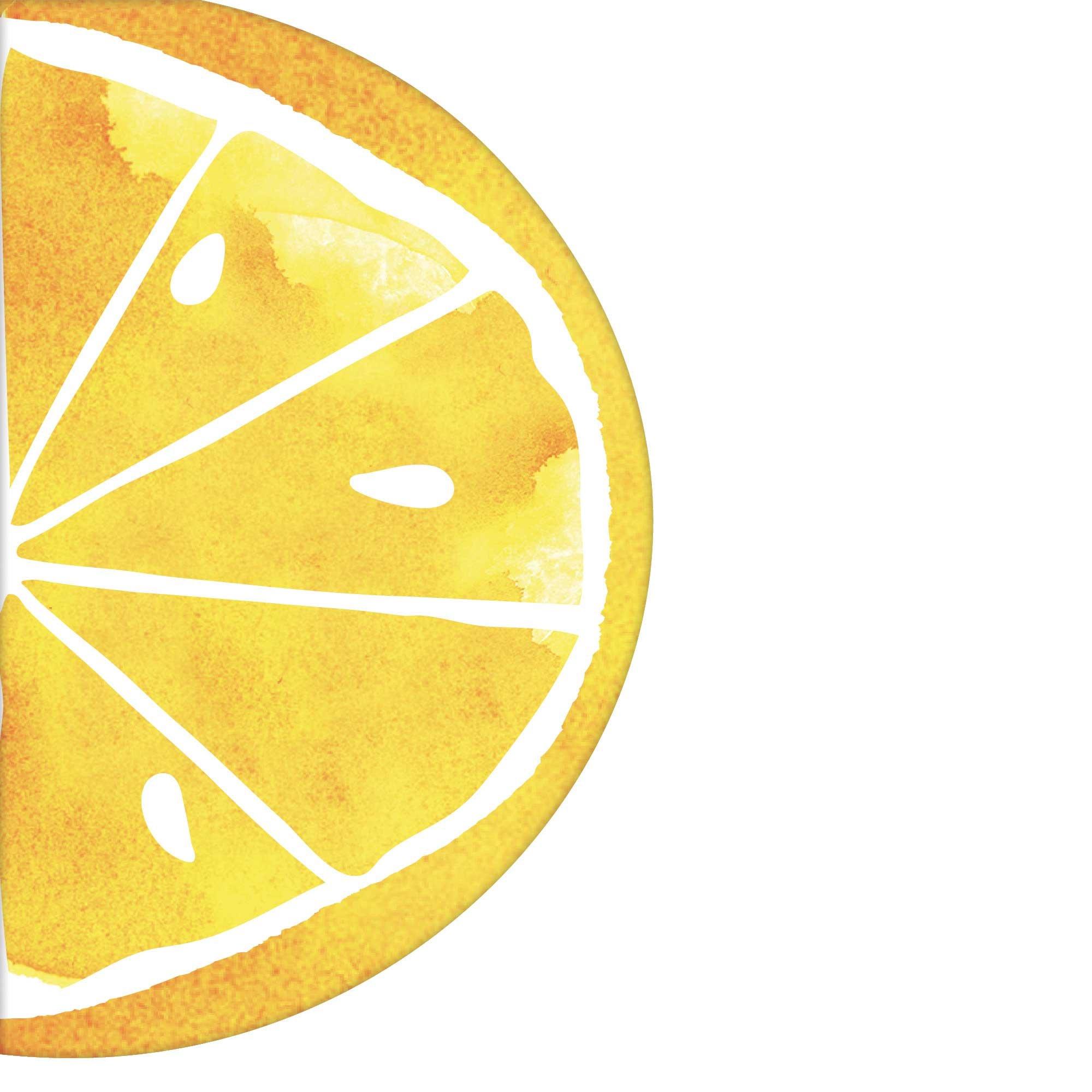 Hello Summer Lemon Slice Shaped Lunch Napkins