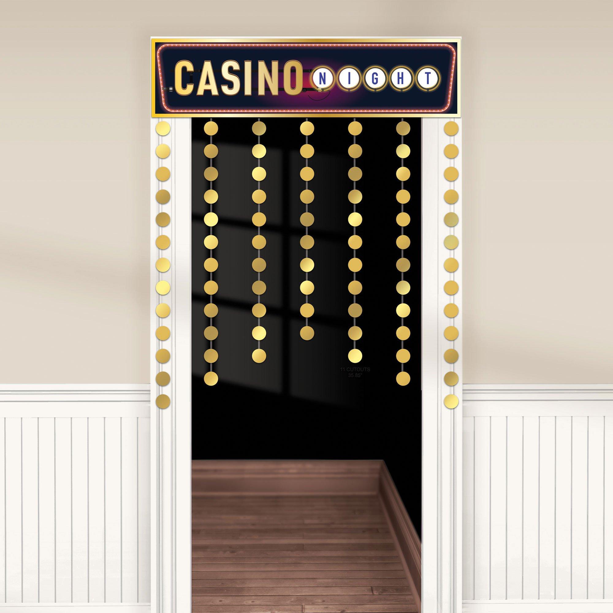 Roll The Dice Casino Decorative Door Curtain