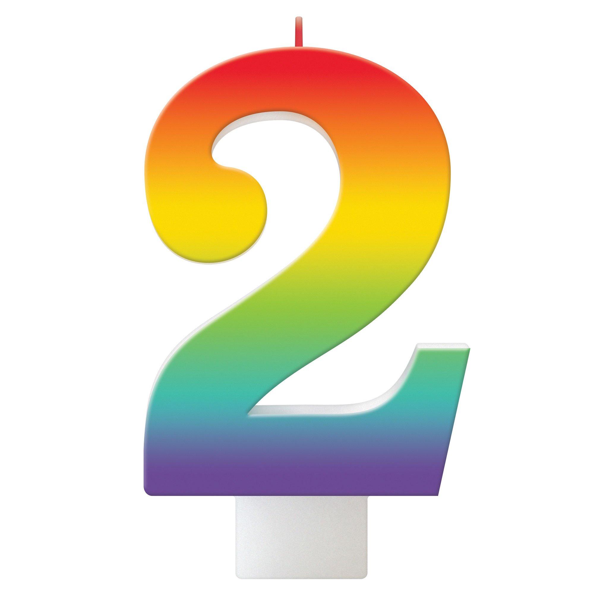Birthday Celebration Rainbow Candle Number #2