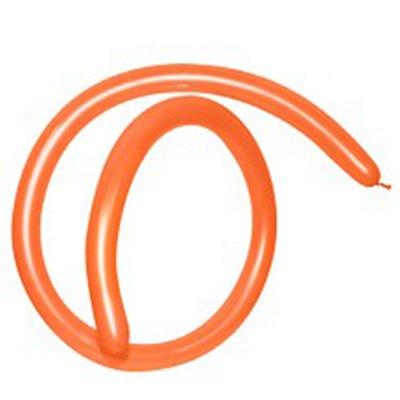 Sempertex 160T Fashion Orange Modelling Latex Balloons 061, 50PK