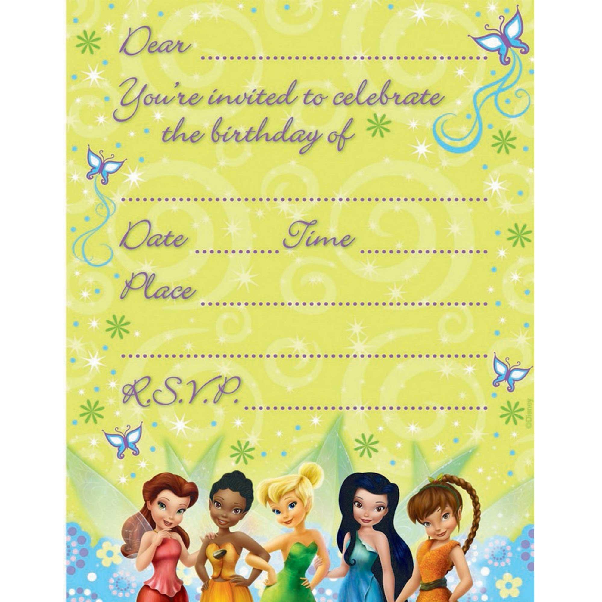 Disney Fairies Invitations
