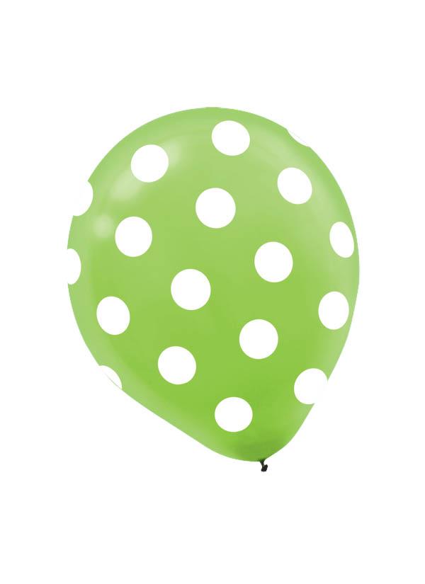 30cm Latex Balloon  Dots Kiwi