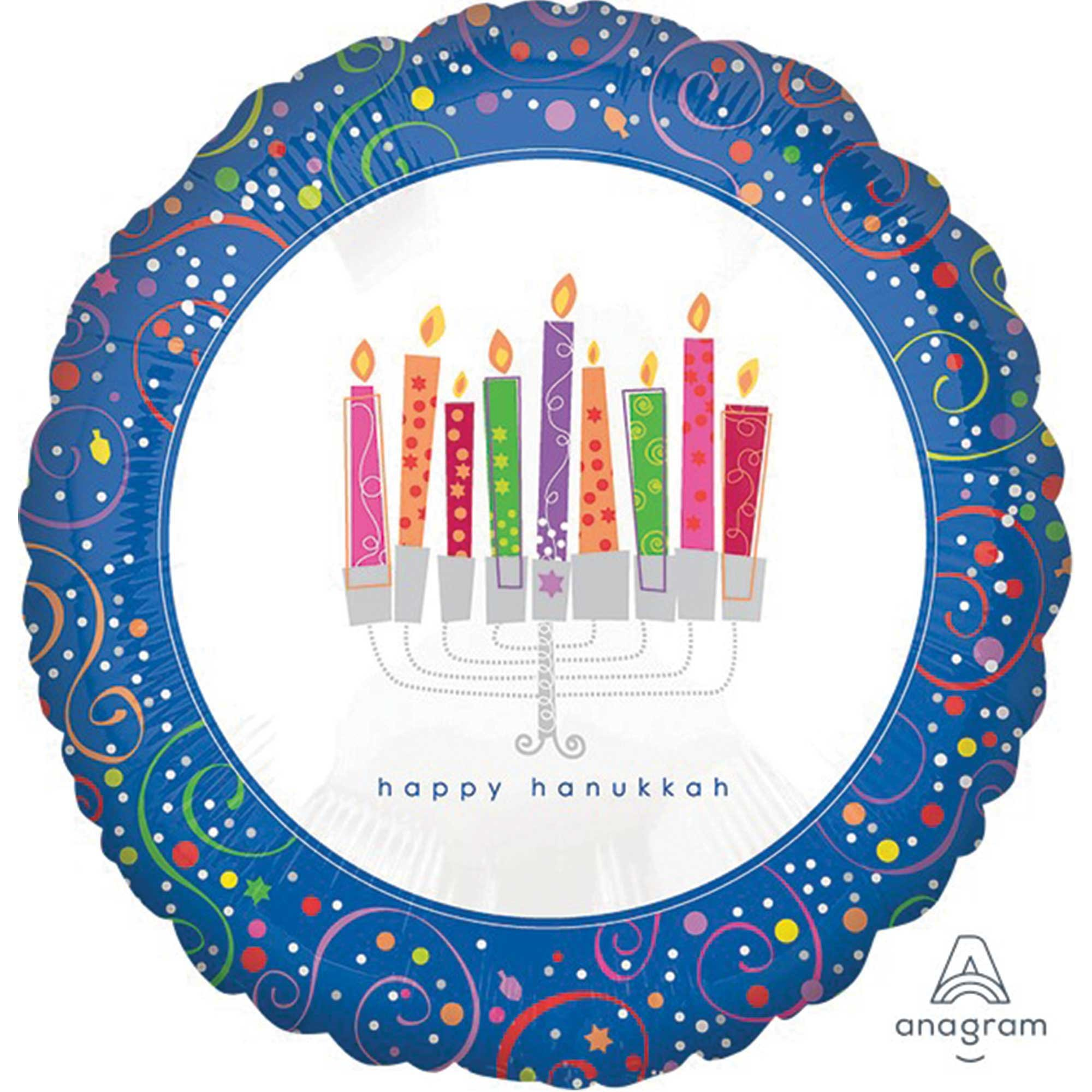 45cm Standard XL Playful Menorah Happy Hanukkah S40