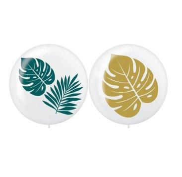 Key West 60cm Palm Leaves Latex Balloons