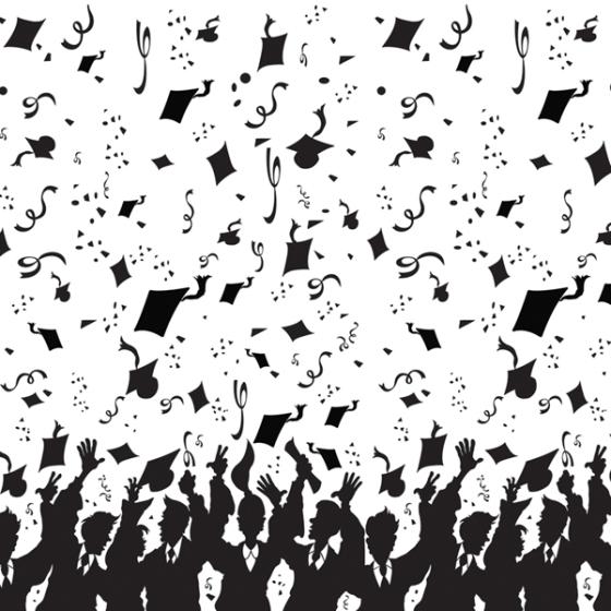 Backdrop Graduation Black & White Scene Setter
