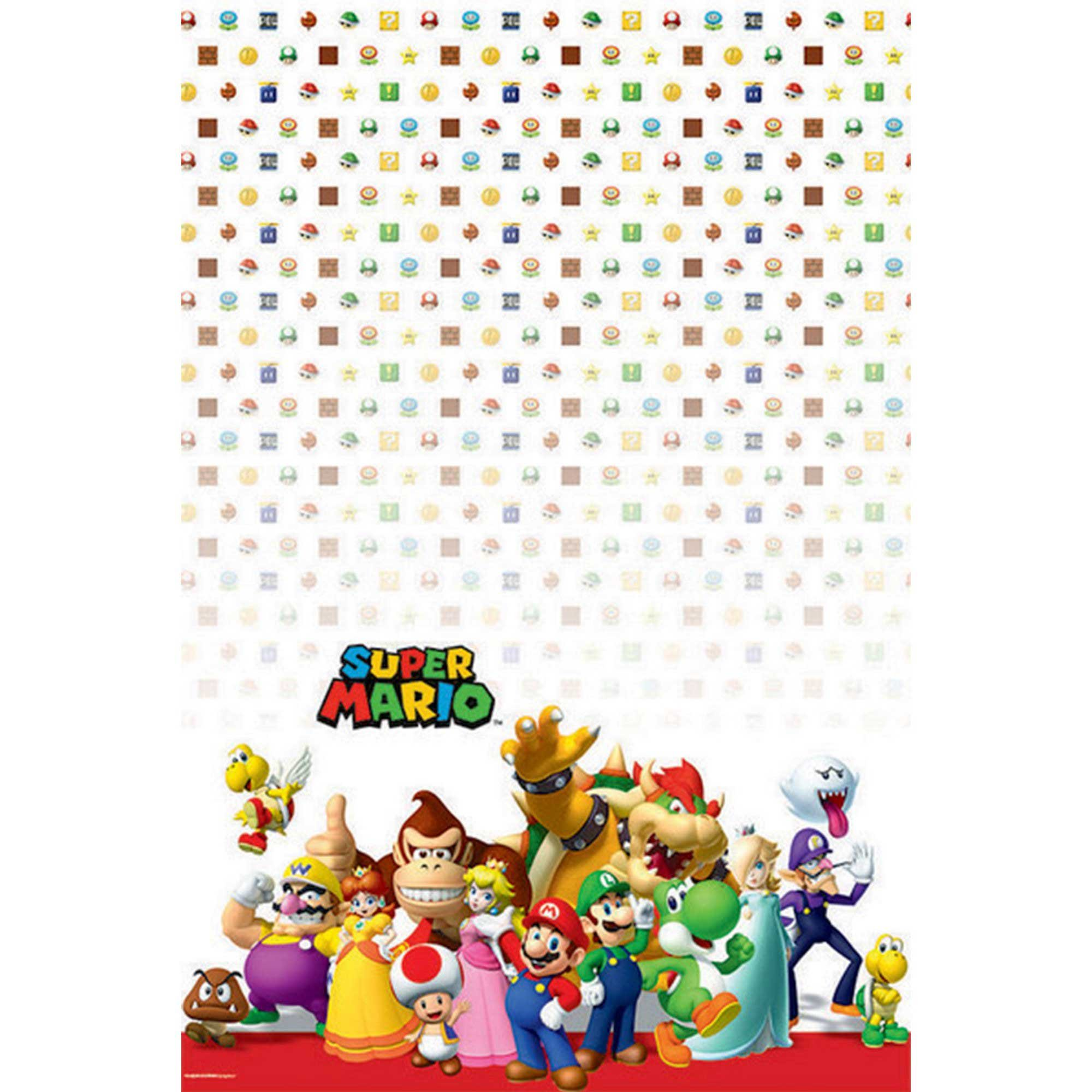 Super Mario Brothers Tablecover Plastic