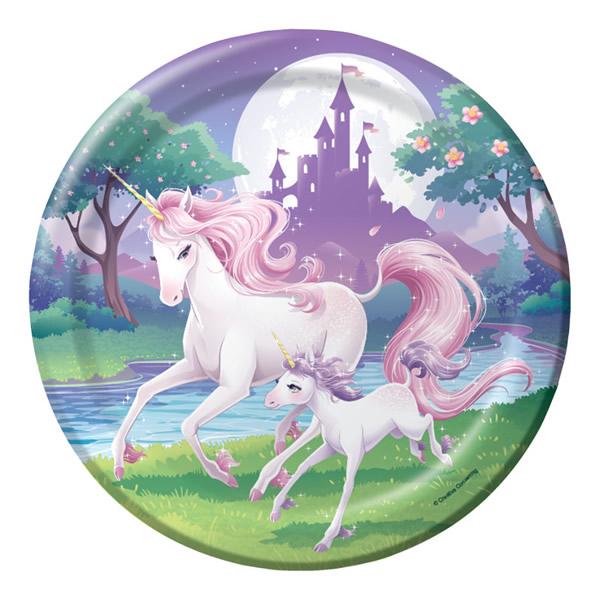 Unicorn Fantasy Dinner Plates Paper