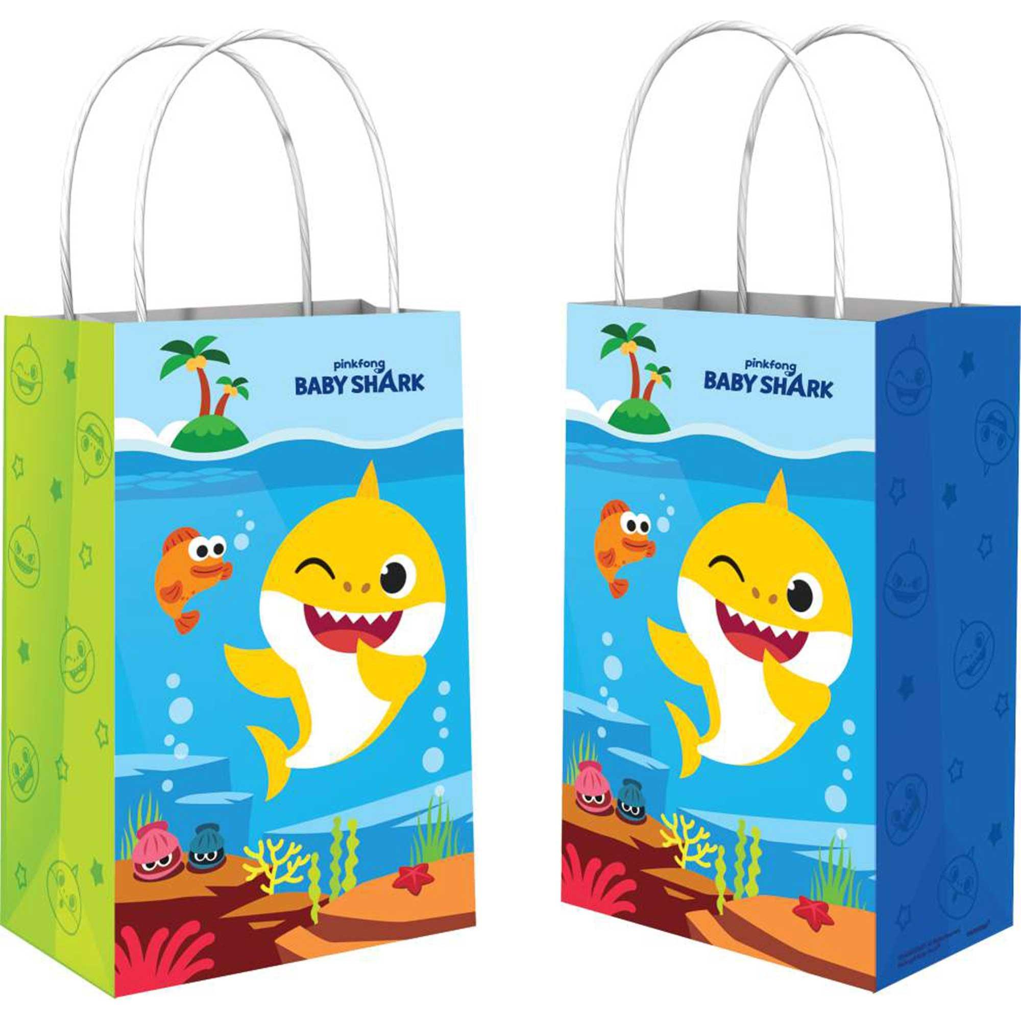 Baby Shark Paper Kraft Bags