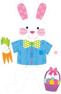 Easter Rabbit Jointed Cutout