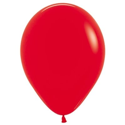 Sempertex 12cm Fashion Red Latex Balloons 015, 50PK