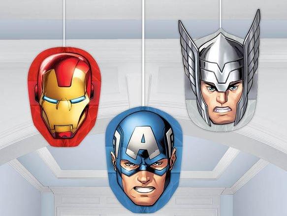 Honeycomb Decorations Avengers