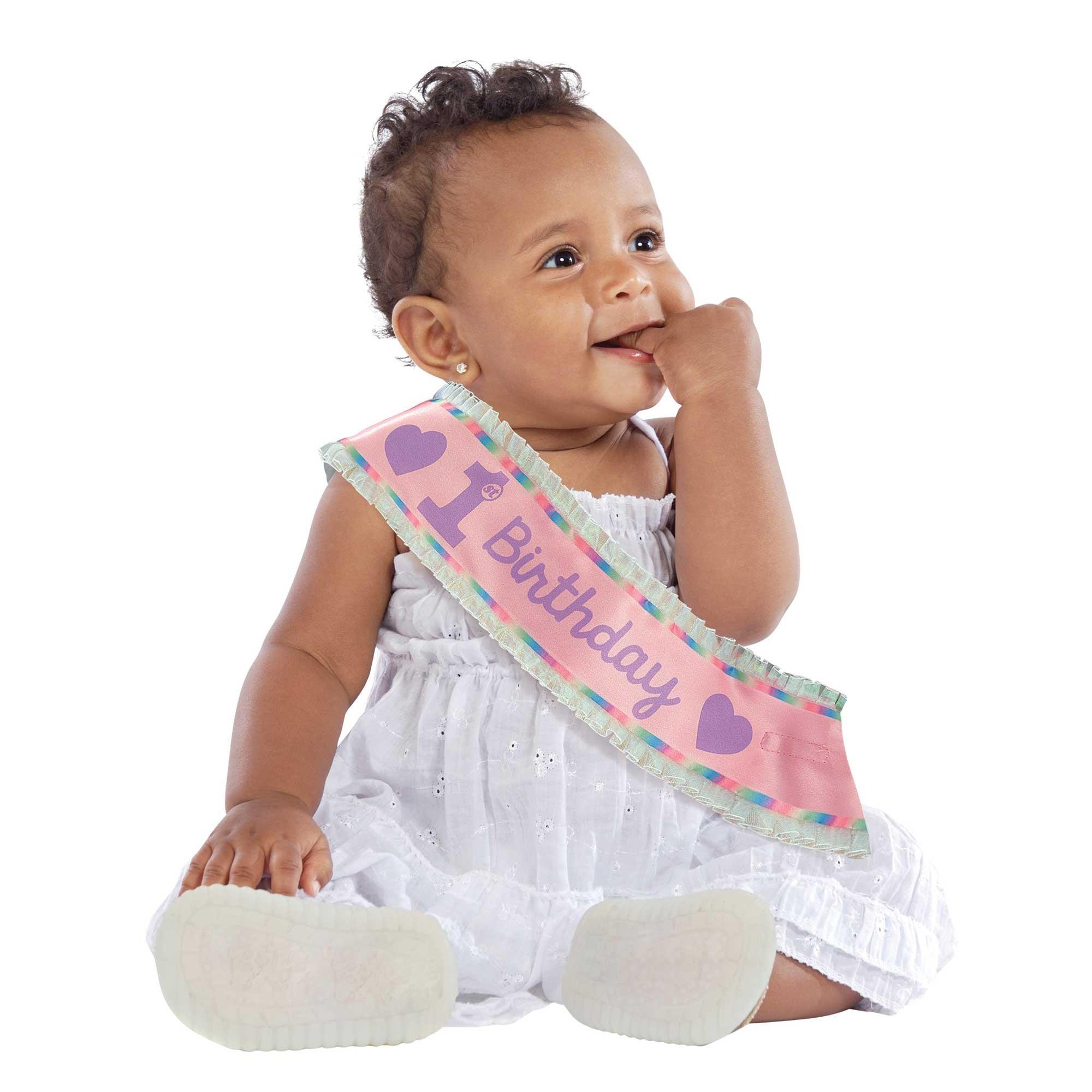 1st Birthday Girl Satin Sash