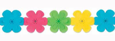 Flowers Shaped Multi Coloured Garland Decoration