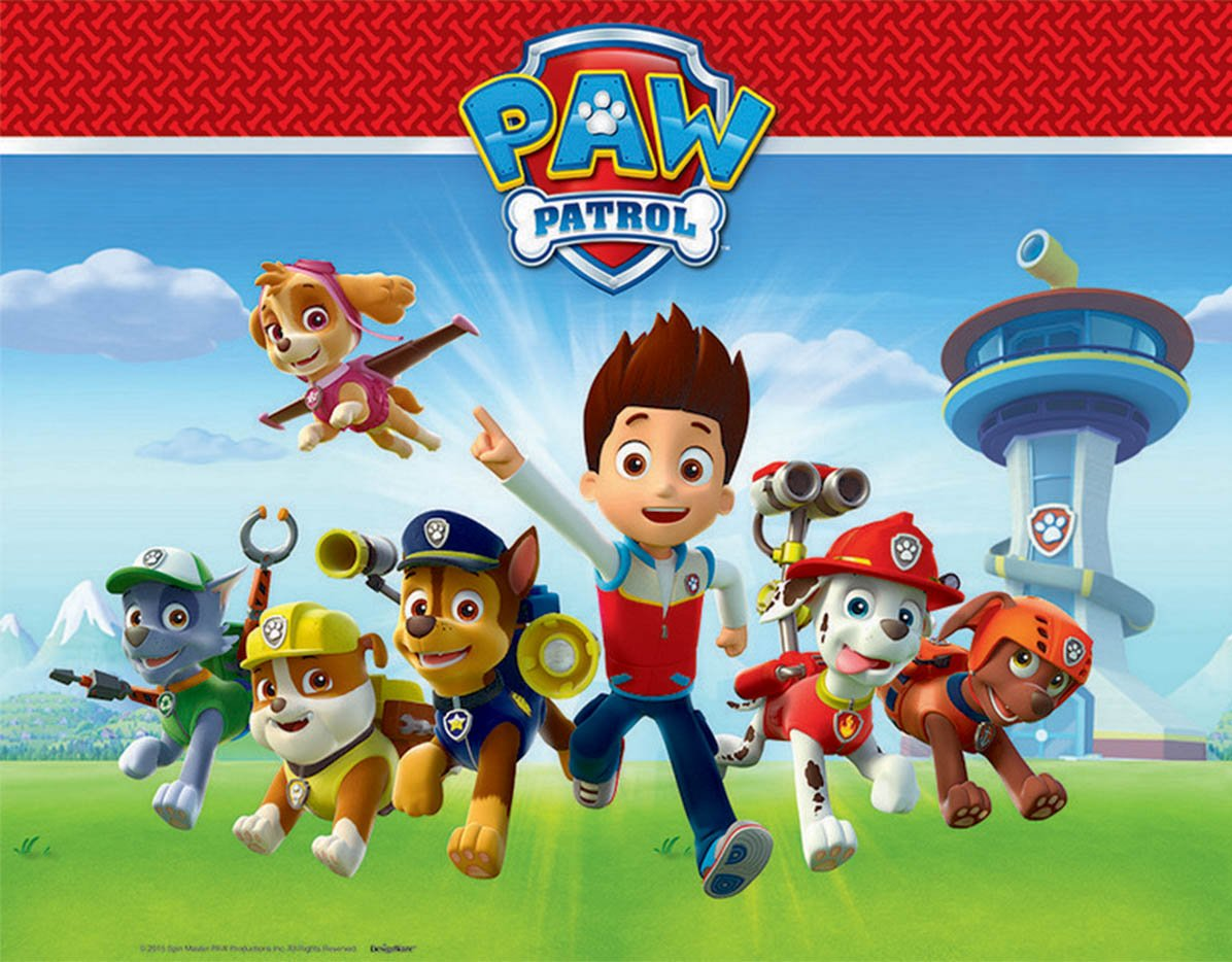 Paw Patrol Tablecover Plastic