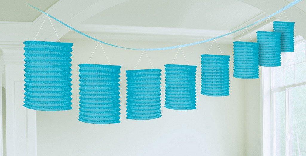 Paper Lantern Garland-Caribbean Blue