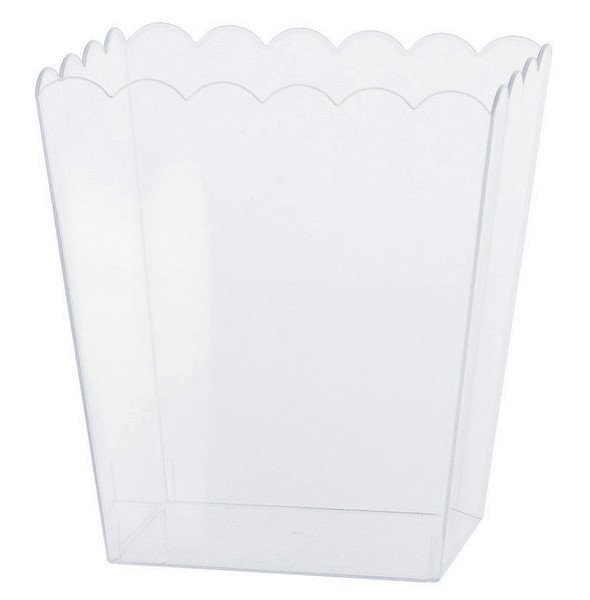 Scalloped Container Plastic Clear Small