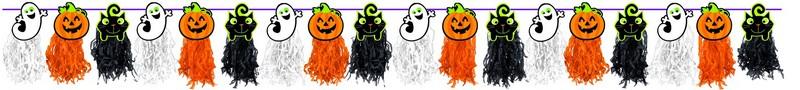 Halloween Garland - Tissue Paper