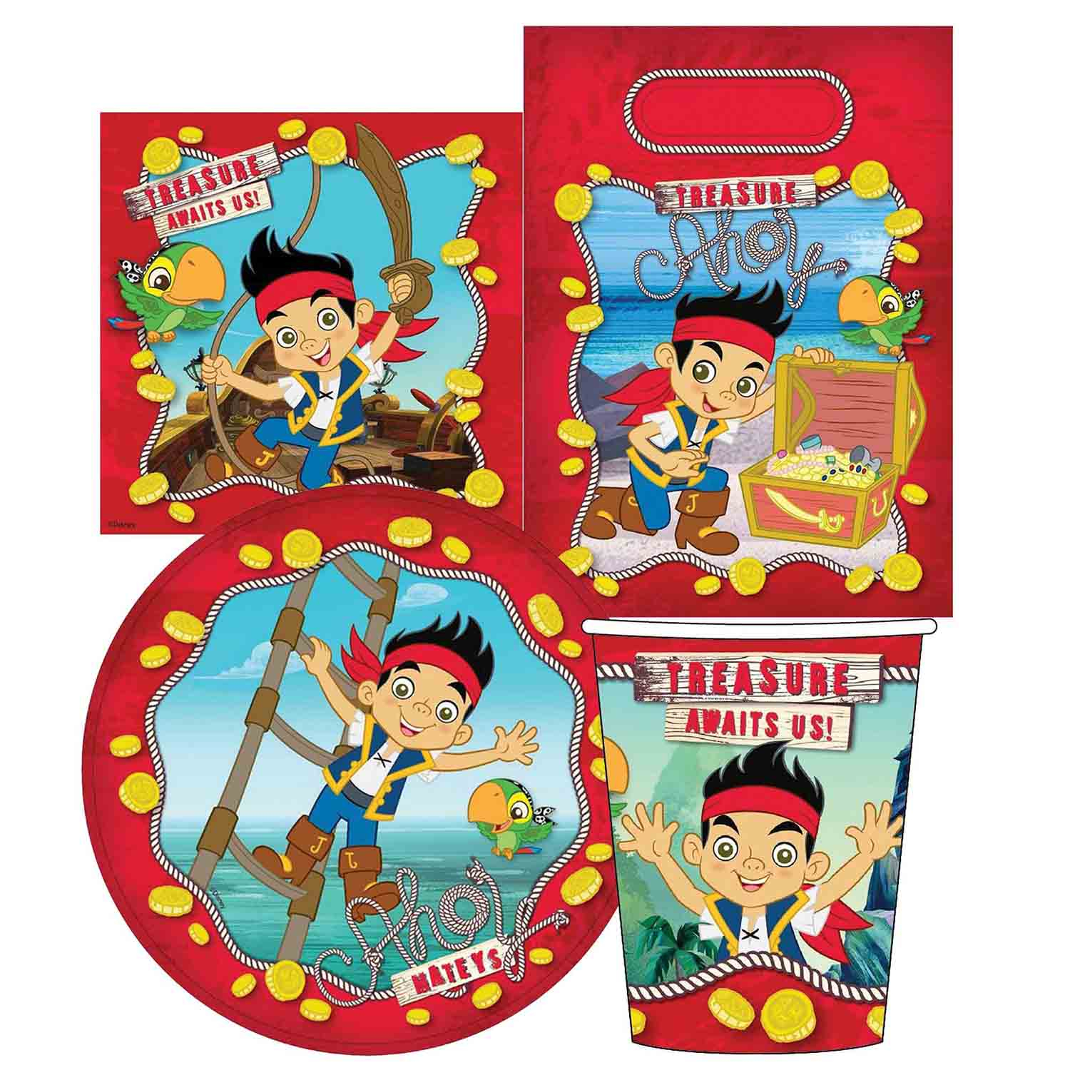 Jake and the Neverland Pirates Party Pack 40pc