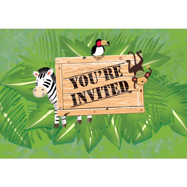 Safari Adventure Invitations Gatefold,
