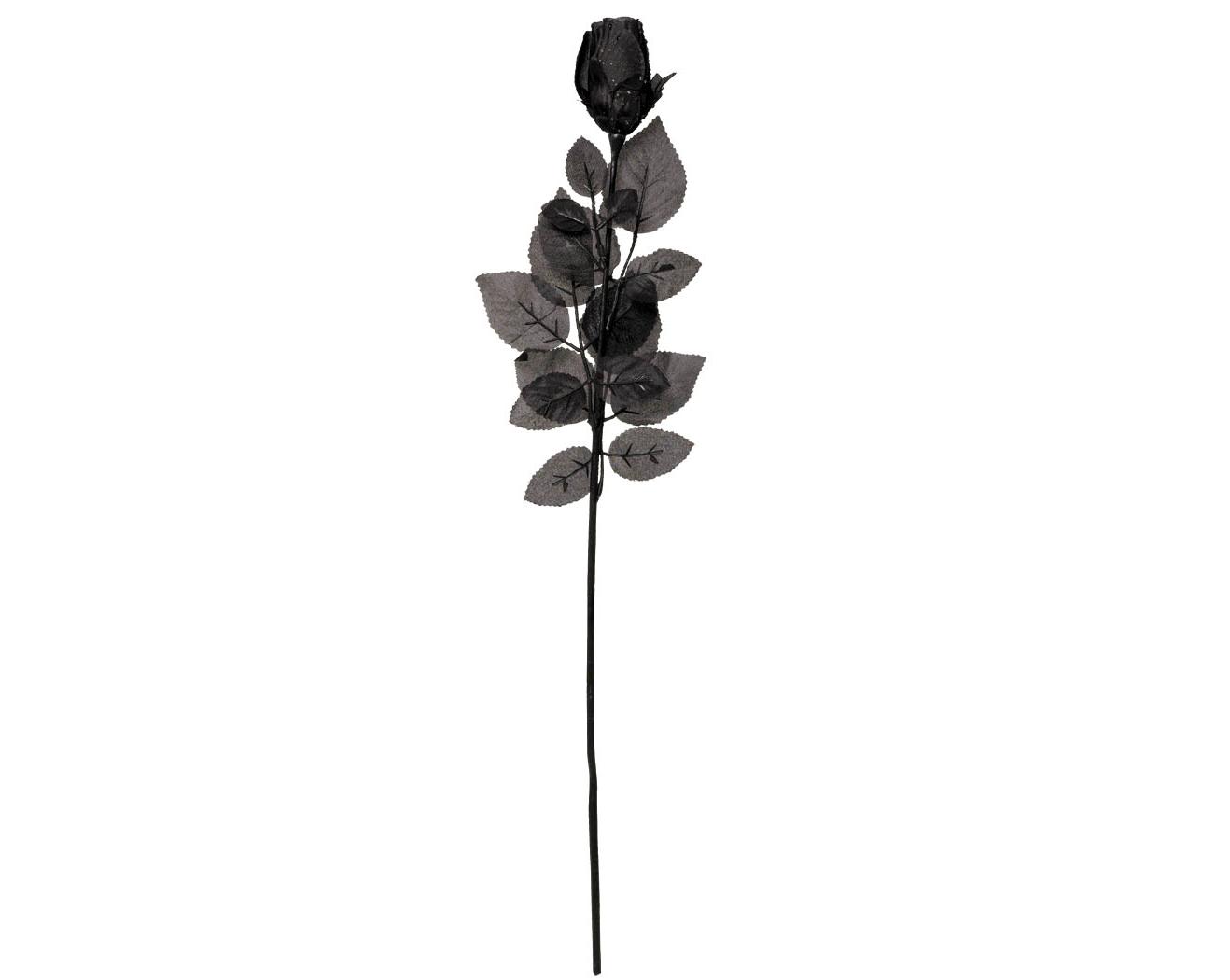 Black Fabric Rose