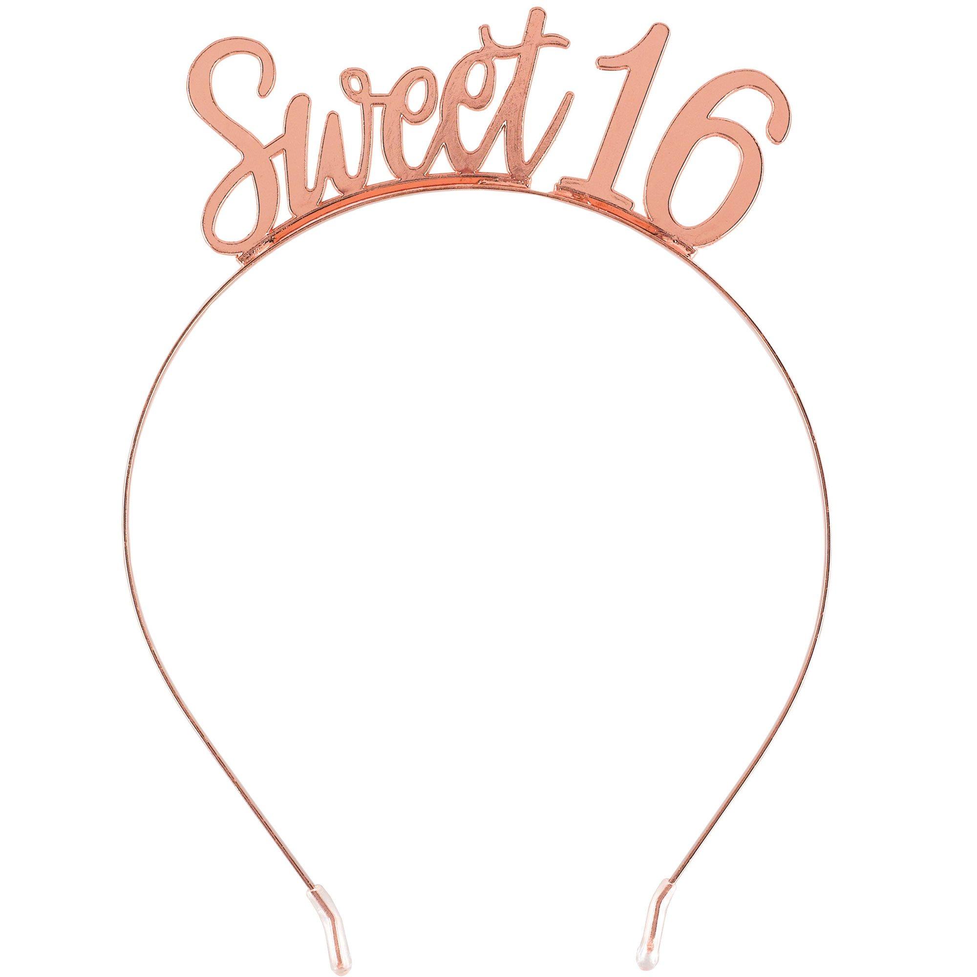 Elegant Sixteen Blush Sweet 16 Metal Headband