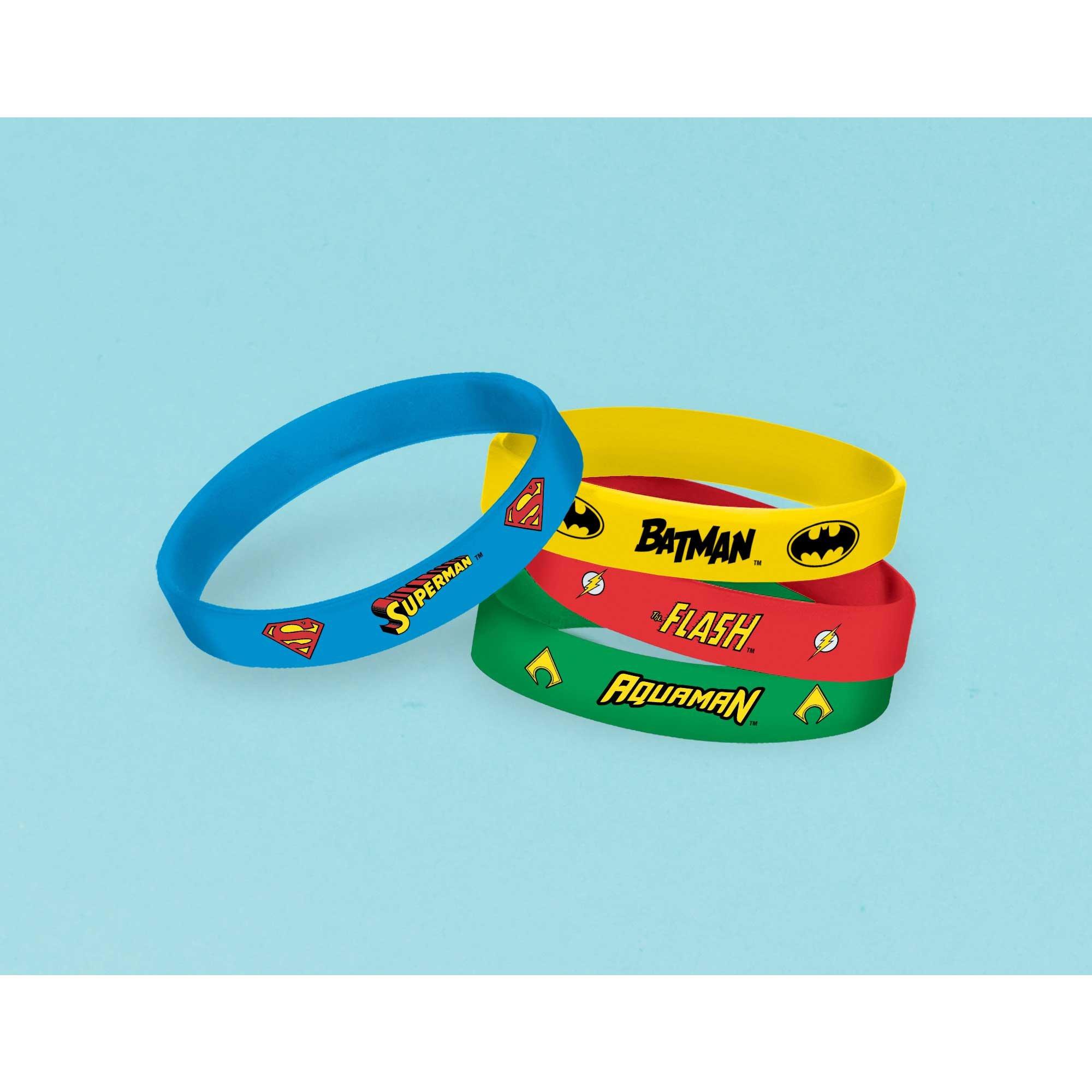 Justice League Heroes Unite Rubber Bracelets Favors