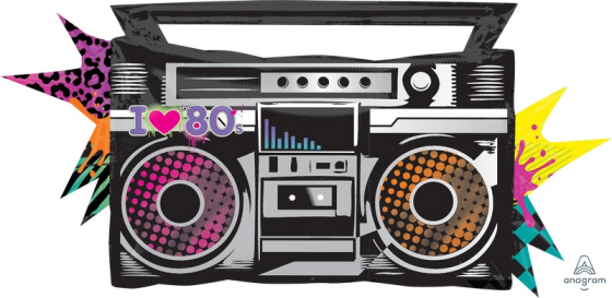 SuperShape XL Totally 80`s Boombox P35