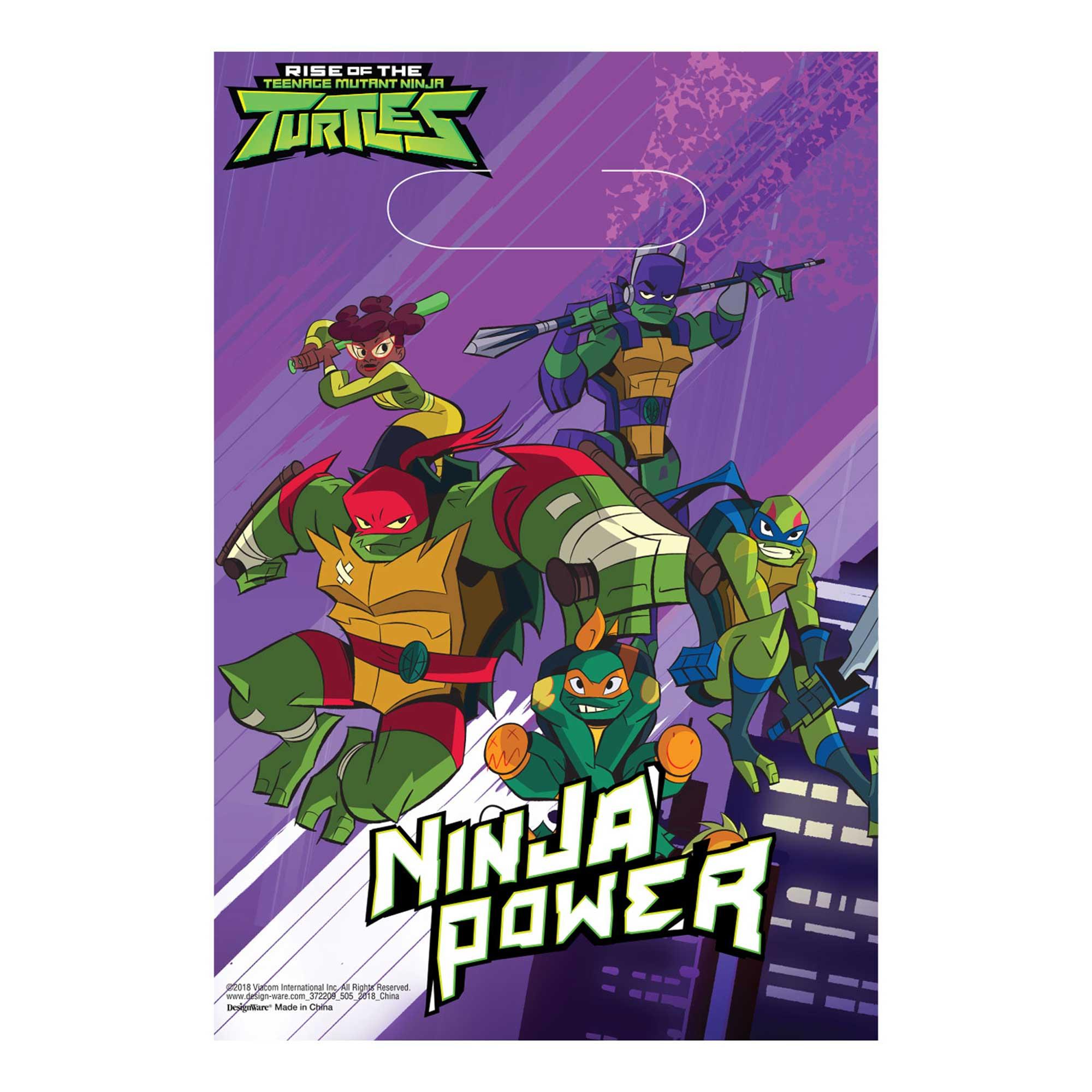 Rise of the Teenage Mutant Ninja Turtles Folded Loot Bags