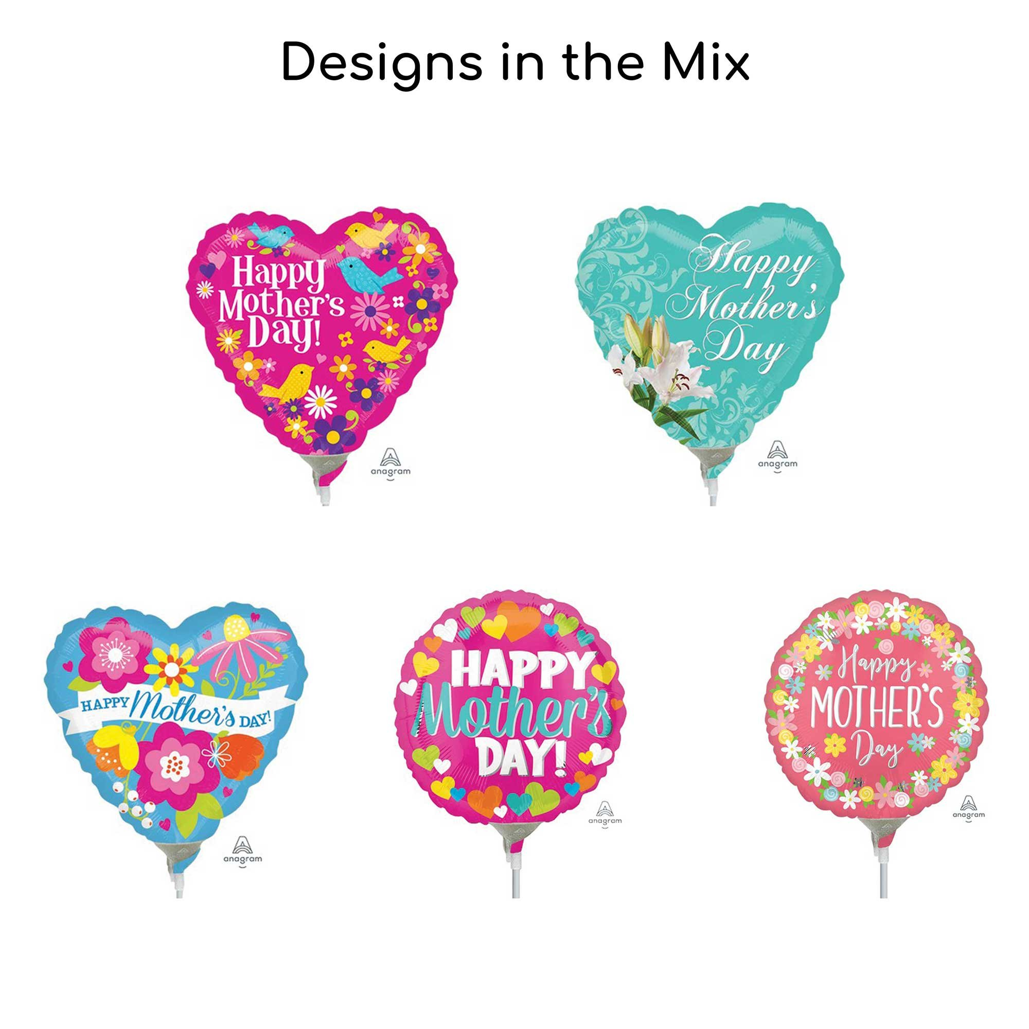 22cm Happy Mothers Day Balloon Mix 2 (25pcs)