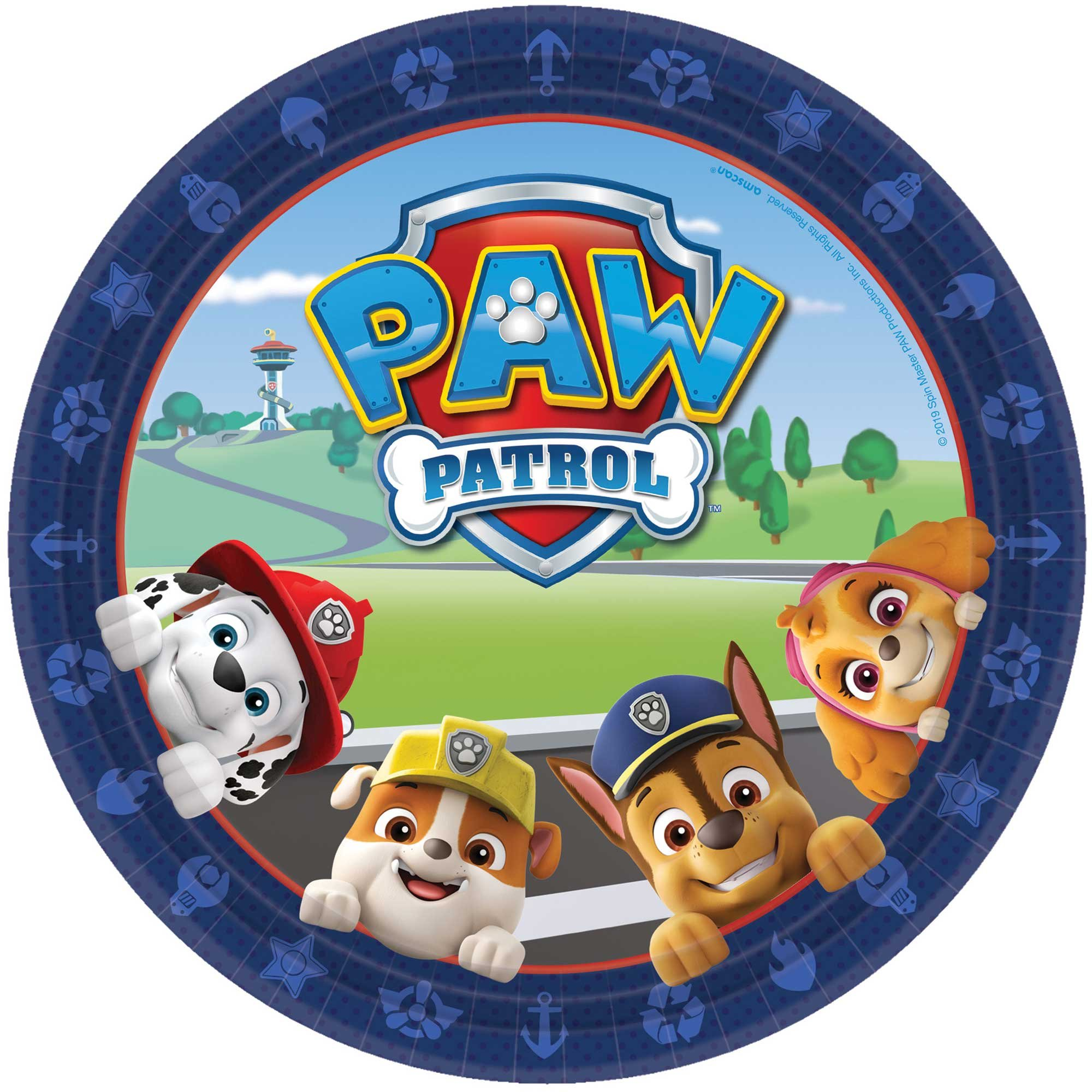 """Paw Patrol Adventures 9""""/ 23cm Round Plates"