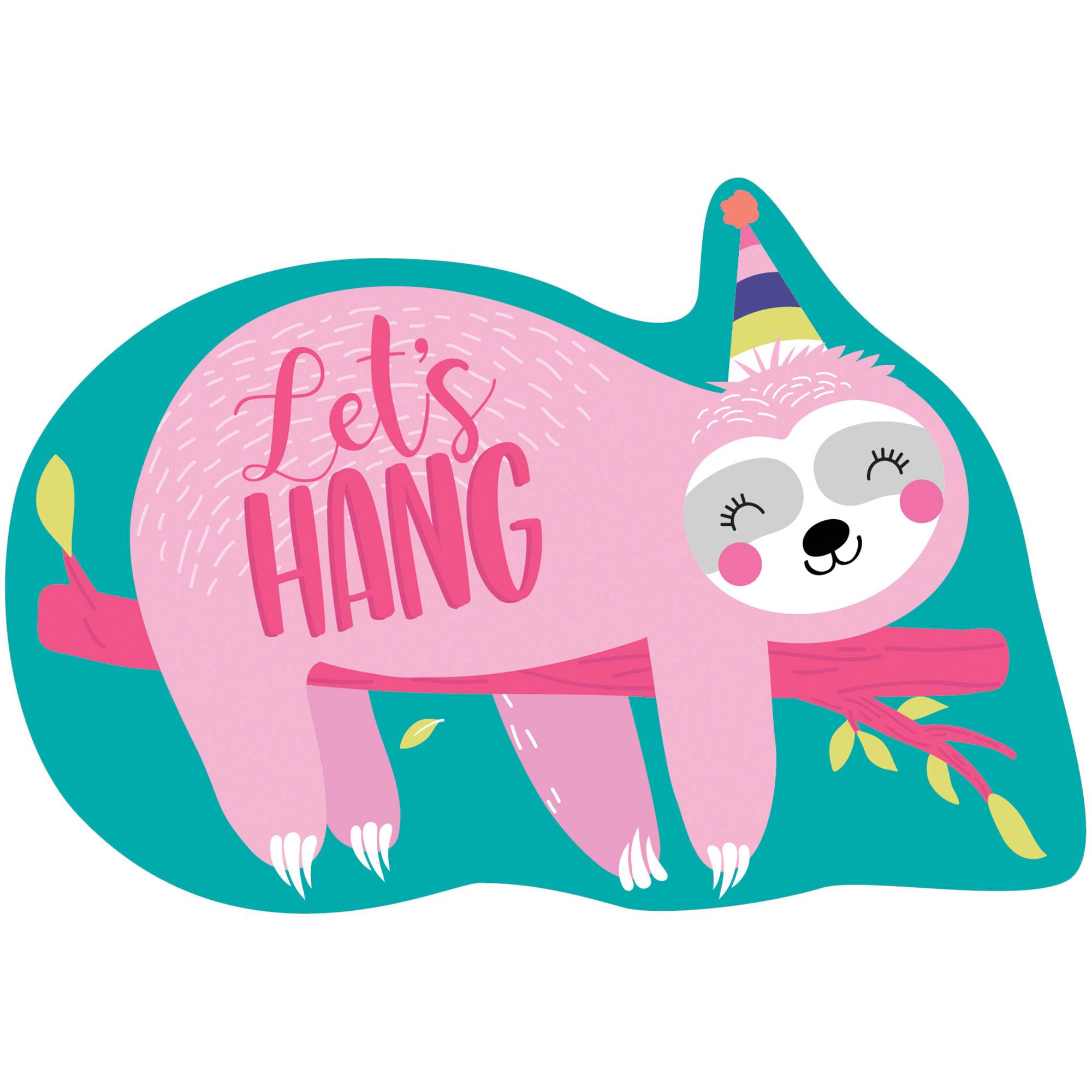 Sloth Postcard Invitations Let's Hang
