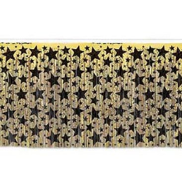 Table Skirt Gold with Black Stars