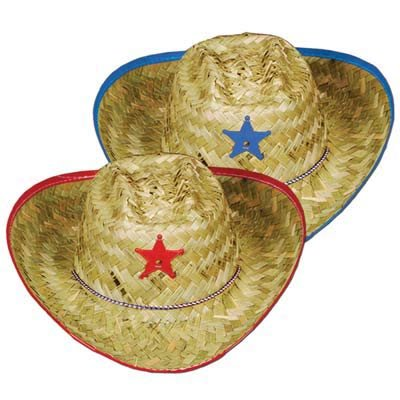 Cowboy Hat Child Size Blue or Red Designs