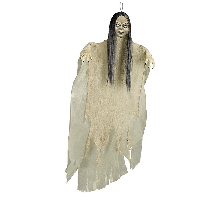 Large Creepy Girl Hanging Prop Decoration Fabric & Plastic