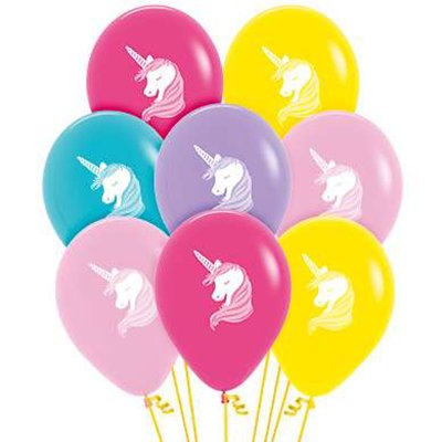 Sempertex 30cm Unicorns Fashion Assorted Latex Balloons, 50PK