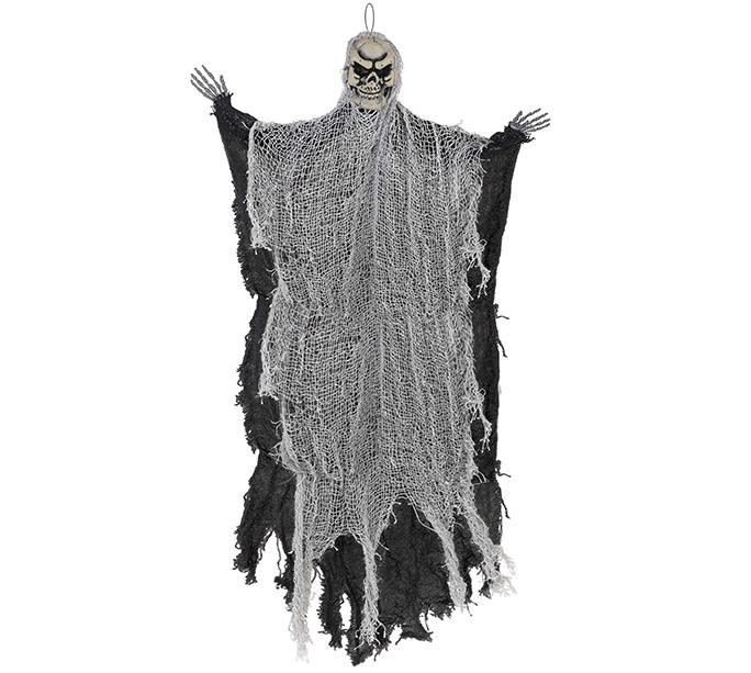Medium Black Reaper Hanging Prop Decoration Fabric & Plastic NEW DESIGN