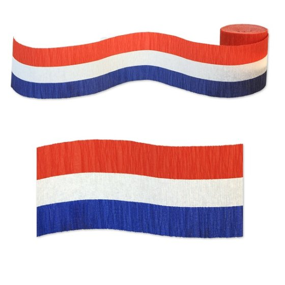 Crepe Streamer Red, White & Blue