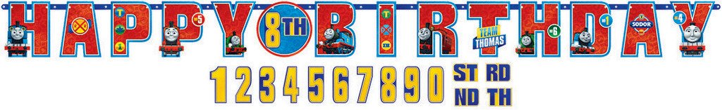 Thomas All Aboard Jumbo Add-An-Age Letter Banner - Printed Paper
