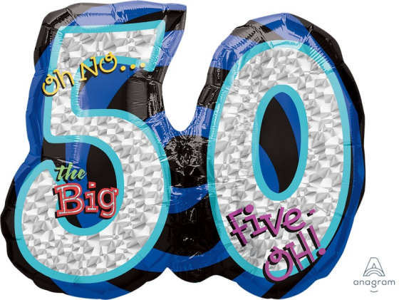 SuperShape Holographic Oh No! It's My Birthday 50 P40