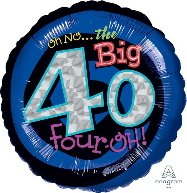 45cm Standard Holographic Oh No It's My Birthday 40 S55