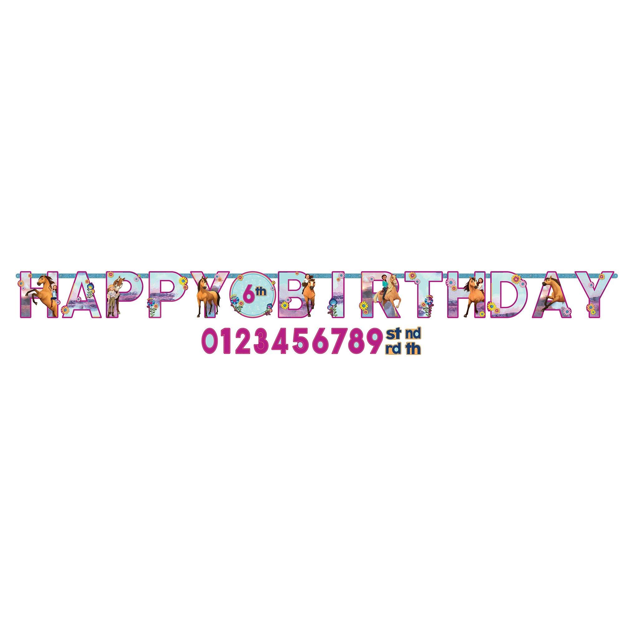 Spirit Riding Free Happy Birthday Jumbo Add-An-Age Letter Banner