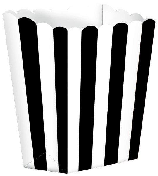 Popcorn Favor Boxes Small Black Striped