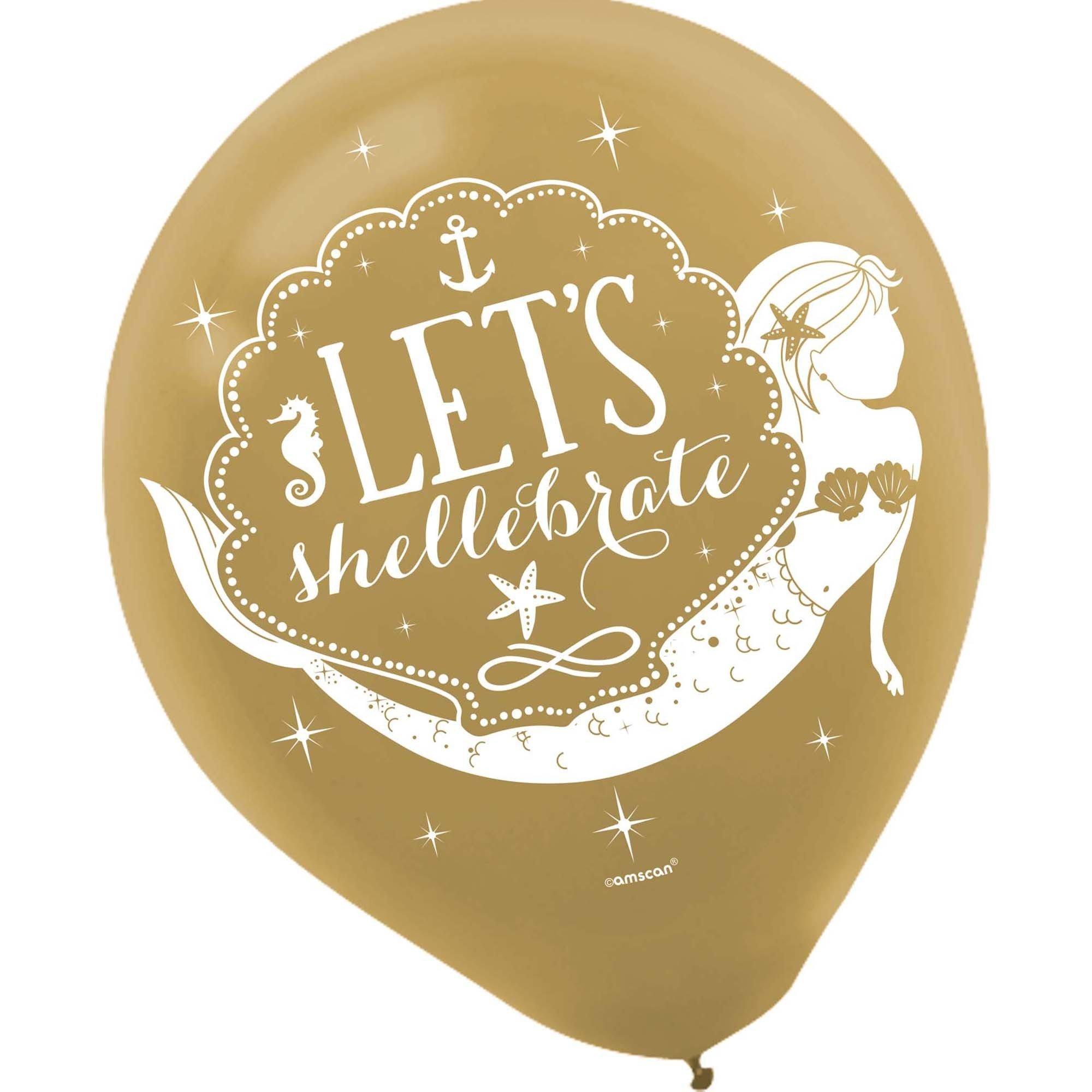 Mermaid Wishes 30cm Latex Balloons