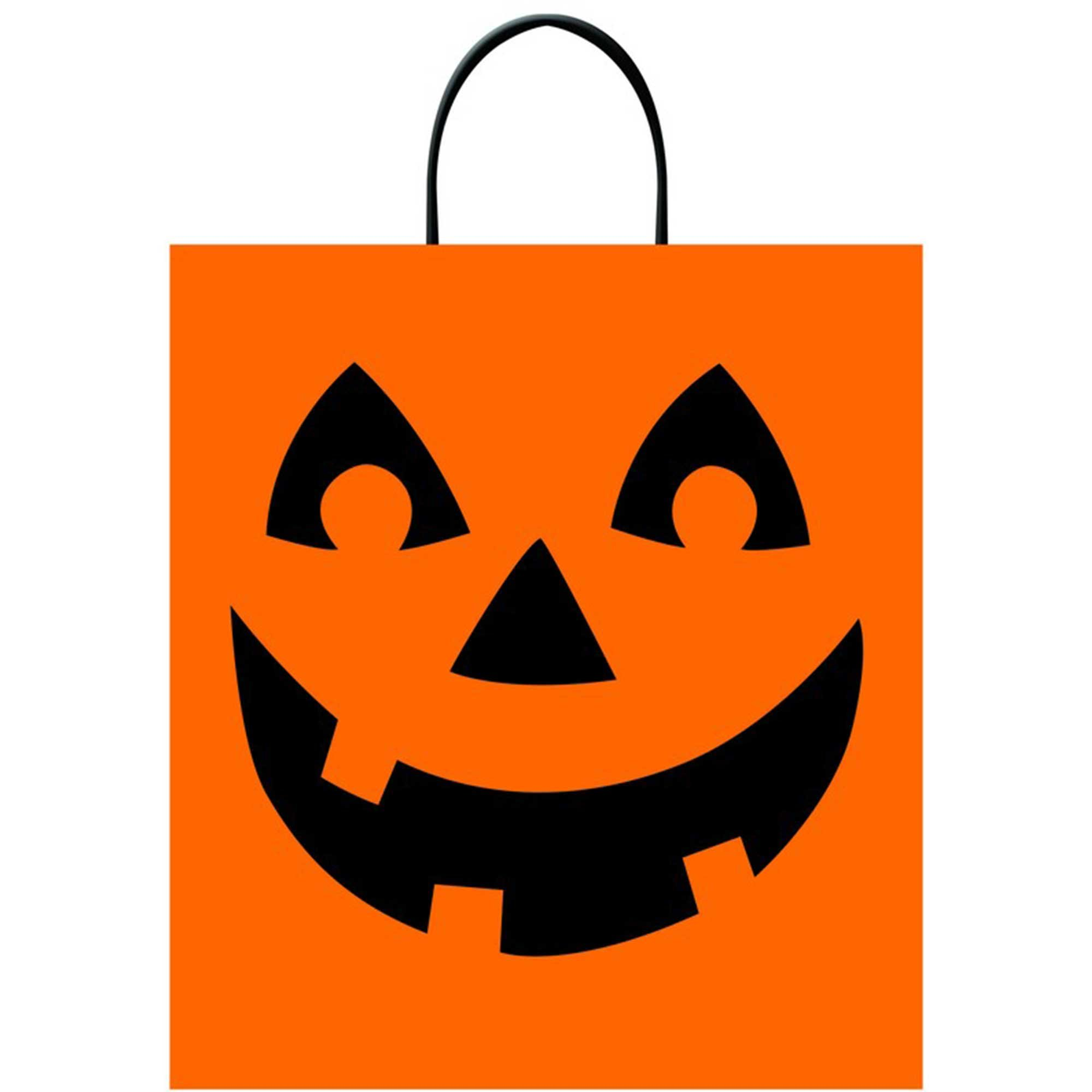 Deluxe Loot Bags Jack-O'-Lantern - Plastic