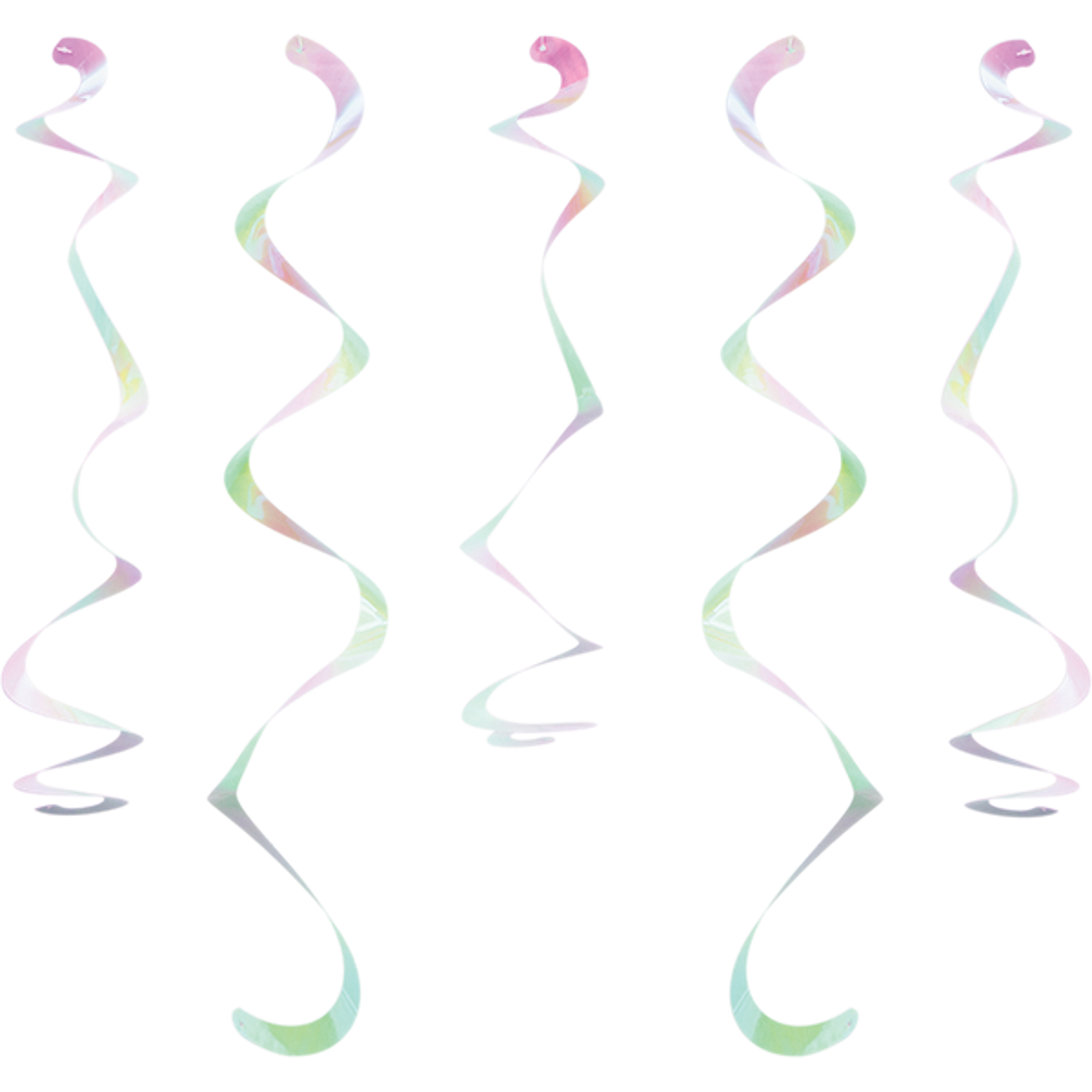 Iridescent Foil Dizzy Danglers Hanging Swirls