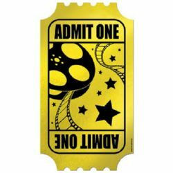 Admit One Foil Golden Ticket
