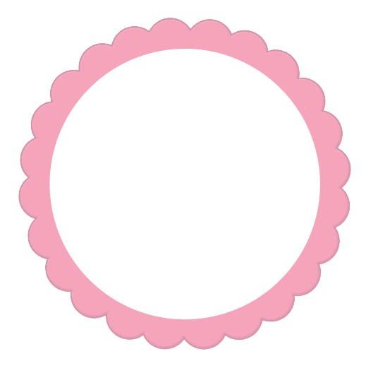 Labels Scalloped - New Pink