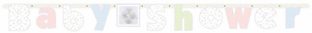 Baby Shower Soft Moments Illustrated Banner