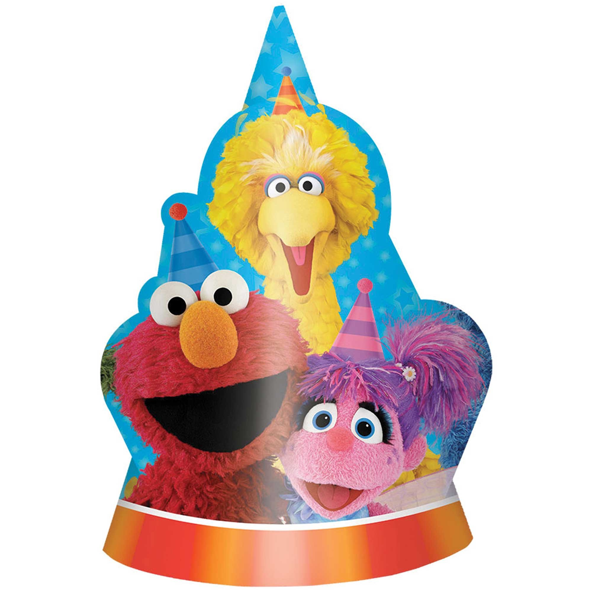 Sesame Street Shaped Cardboard Hats